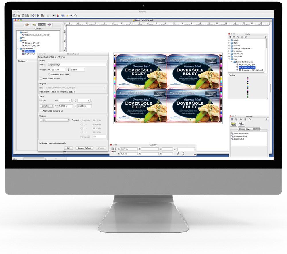 Pandora - Dateibearbeitung - Druckbogenaufbau