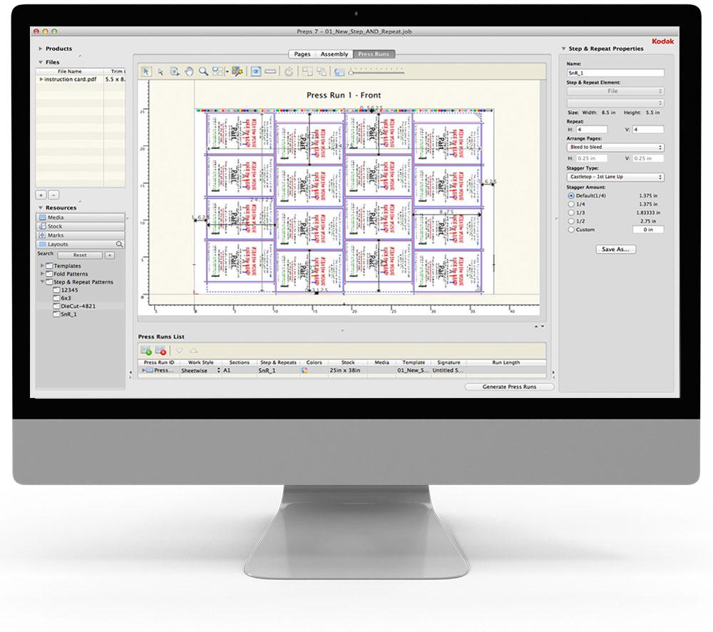 Preps - Dateibearbeitung - Druckbogenaufbau