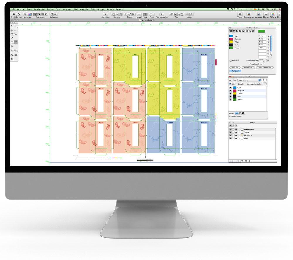 ArtPro - Dateibearbeitung - Druckbogenaufbau