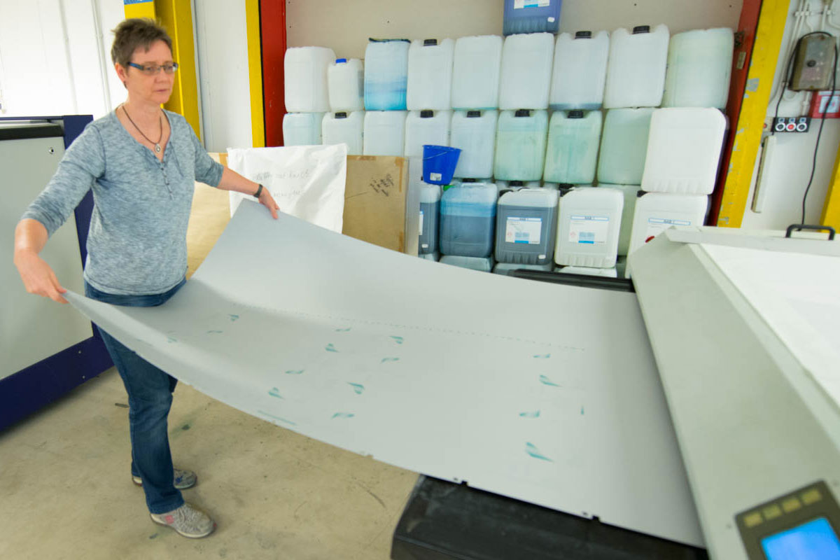 CTP Druckplattenbelichtung - Formate bis VII B (max 2 m Breite)